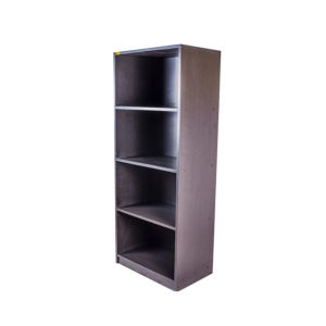 wooden open bookshelf