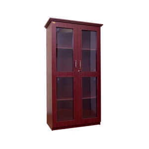 bookshelf glass doors