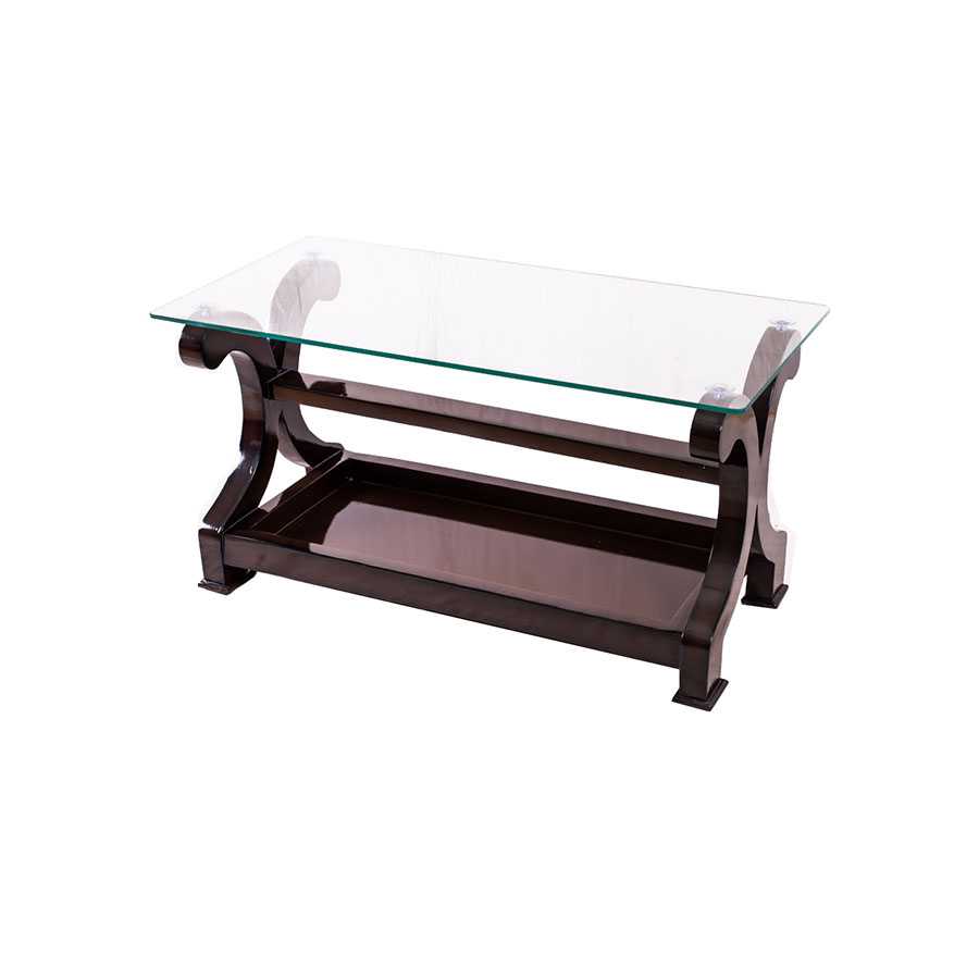 C Cut Center Table Glass Top Teapoy Woodworx